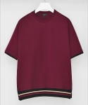 드로우핏(DRAW FIT) 16SS Banded Line T-shirts_Burgundy