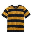 어커버(ACOVER) Big Stripe 1/2 T-shirts Yellow