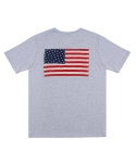 애터27(ATTA27) USA Flag Pocket T _ Gray