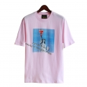 런디에스(RUNDS) RUNDS pizza of Liberty t-shirt (pink)