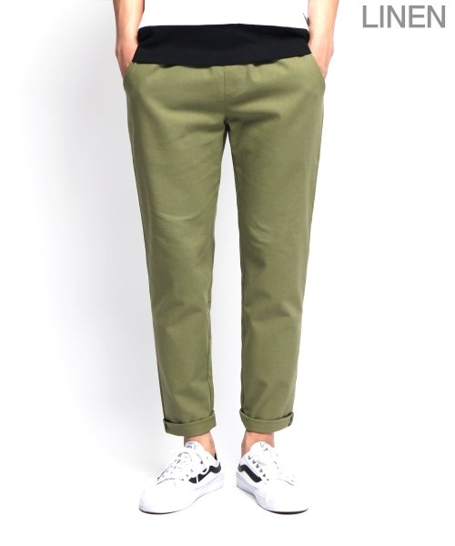 제멋_[제멋]Natural linen band pants khaki(2009)