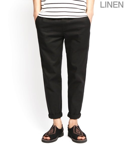 제멋_[제멋]Natural linen band pants black(2009)