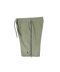 콰이트(QUITE) [콰이트] Double Zipper Sweatshorts (KHAKI)