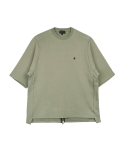 콰이트(QUITE) [콰이트] Back Zipper Oversized Sweatshirt (KHAKI)
