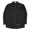 JIMCUFF Oversize Tile Check Shirts J261 Black 오버체크셔츠