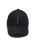디폴트(DEFAULT) default embroidery 7pannel cap(black)