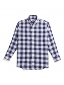 비앙쉬르(BIENSUR) LINEN CHECK SHIRT