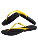 Salvatos Foldable Flip Flop Black /Neon Yellow