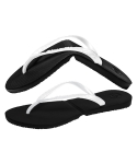 살바토스(SALVATOS) Salvatos Foldable Flip Flop Black / Pearl White