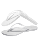 Salvatos Foldable Flip Flop Pearl White