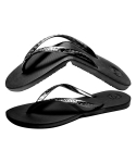 Salvatos Foldable Flip Flop Black