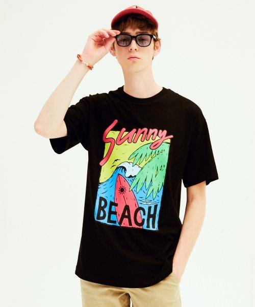 클리프웨어_SUNNY BEACH TEE (BLACK)