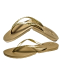 Salvatos Foldable Flip Flop Gold