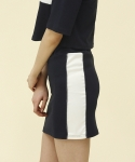 엽페(YUPPE) piping skirt_navy