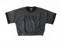 스투시() STUSSY WOMEN COATED SWEATSHIRT (BLACK)
