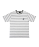 콰이트(QUITE) [콰이트] HTI Stripe Short Sleeve T (A/G)