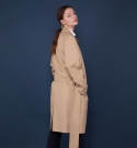 모한(MOHAN) [MOHAN] OVERSIZED TRENCH COAT BEIGE