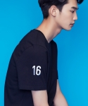 셔터(SHUTTER) SHUTTER POINT 1/2 T-SHIRTS (BLACK)