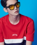 셔터(SHUTTER) SHUTTER COLOR COTTON 1/2 T-SHIRTS (RED)