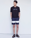 셔터(SHUTTER) SHUTTER COLOR BLOCK 1/2 PANTS (NAVY)