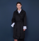 [MOHAN] OVERSIZED TRENCH COAT NAVY