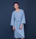 모한(MOHAN) [MOHAN] DENIM MAXI DRESS SKY