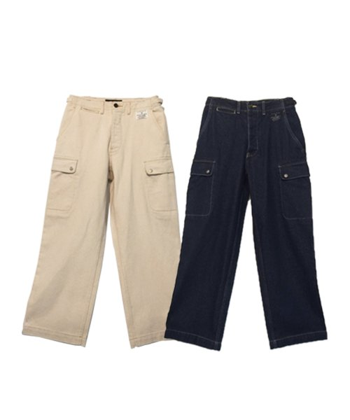 서리얼벗나이스 유니섹스_Denim Cargo Pants (2color)