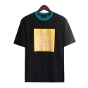 런디에스(RUNDS) RUNDS half screen t-shirt (black/blue green)