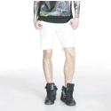플라잉 나인티(FLYING NINETY) FNTY DAMAGE SHORTS (WHITE)