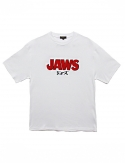 프리플(FREEPLE) JAWS t-shirt (white)