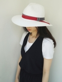 아포코팡파레(APOCOFANFARE) 3color ribbon panama hat - white (10 ribbon color)