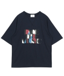 레이트(LEIT) FACE THE MUSIC T-SHIRTS NAVY
