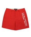 아임낫어휴먼비잉(I AM NOT A HUMAN BEING) Basic Logo Chinos Shorts - Red