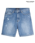 피스워커() Scratch Short - Medium Blue / Little Half