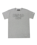 아임낫어휴먼비잉(I AM NOT A HUMAN BEING) Same old Shit 3D Logo T-Shirts - Grey