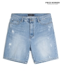 피스워커() Scratch Short - Light Blue / Little Half