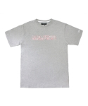 아임낫어휴먼비잉(I AM NOT A HUMAN BEING) Red Basic Logo T-Shirts - Grey
