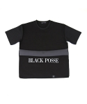 블랙파지(BLACK POSSE) BELT POINT SHORT SLEEVE TEE(BLACK)
