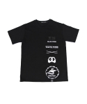 블랙파지(BLACK POSSE) MULTI LOGO SHORT SLEEVE TEE