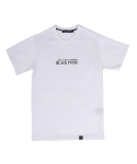 블랙파지(BLACK POSSE) SLOGAN SHORT SLEEVE TEE(WHITE)