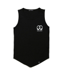 TRIANGLE SLEEVELESS(BLACK)
