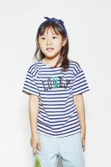 노앙(NOHANT) SIUSIU LONELY/LOVELY T SHIRT BLUE
