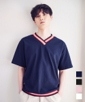 에드(ADD) IVY T-SHIRT NAVY