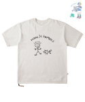 어썸 이미지네이션(AWESOME IMAGINATION) CHILD GRAFFITI SIDE-ZIP BOX T-SHIRTS White