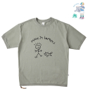 어썸 이미지네이션(AWESOME IMAGINATION) CHILD GRAFFITI SIDE-ZIP BOX T-SHIRTS Light-Khaki
