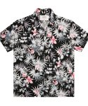 언더에어() Black Peach Aloha Shirt - Black