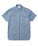 인사일런스(INSILENCE) OVERSIZE SHORT SLEEVE SHIRT (BLUE)