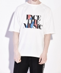레이트(LEIT) FACE THE MUSIC T-SHIRTS WHITE