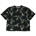 로맨틱크라운(ROMANTIC CROWN) [ROMANTICCROWN]TROPICAL LEAF WIDE JERSEY_BLACK