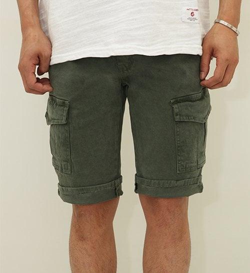 갓타헌치_Cotton shorts pants - khaki
